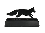 Wood Silhouette Running Fox