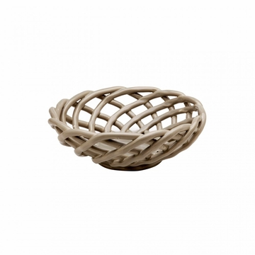 Casafina Medium Round Ceramic Basket - Gray