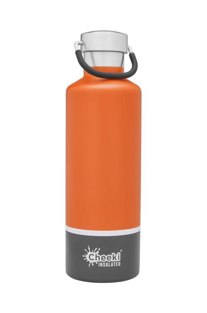 Cheeki 20 oz Classic Insulated Bottle Orange/Grey