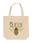 Queen Bee Canvas Tote