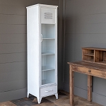 Park Hill Aged White Metal Storage Cabinet