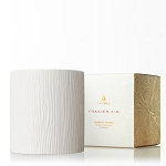 Thymes Frasier Fir Ceramic Poured Candle, Medium