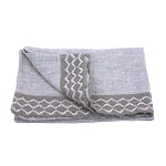 Thick Linen Hand Towel - Stonewashed - Light Natural with Lace
