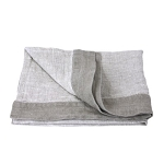Linen Hand Towel - Stonewashed - Light Natural with Trim and Dot Hemstitch