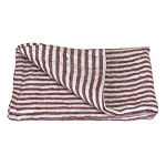 Thick Linen Hand Towel - Stonewashed - Maroon White Striped