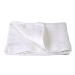 Linen Hand Towel - Stonewashed - White with Dot Hemstitch