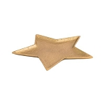 Large Star Tray in Electroplated Brass