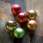 Candied Fruit Colored Ornaments, Medium