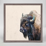 Bison Mini Framed Canvas