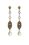 French Kande Brass Stud with Swarovski Chanel Set & Swarovski Rivoli