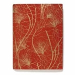 Arcadia Home Recycled Cotton Journal in Red and Gold Beach Grass