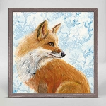 The Curious Fox Mini Framed Canvas