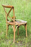 Wooden Cross Bistro Chair