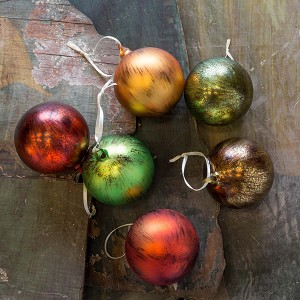 Candied Fruit Colored Ornaments