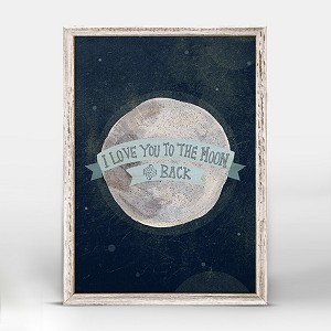 I Love You To The Moon Mini Framed Canvas