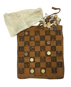 Leather Pirate Checkers