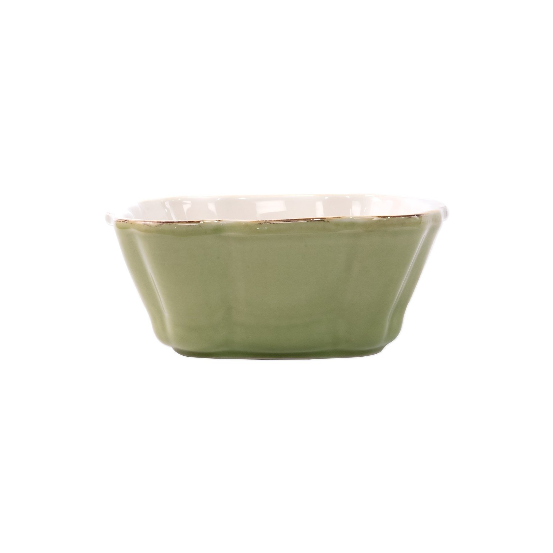 Vietri Italian Small Square Baker - Green