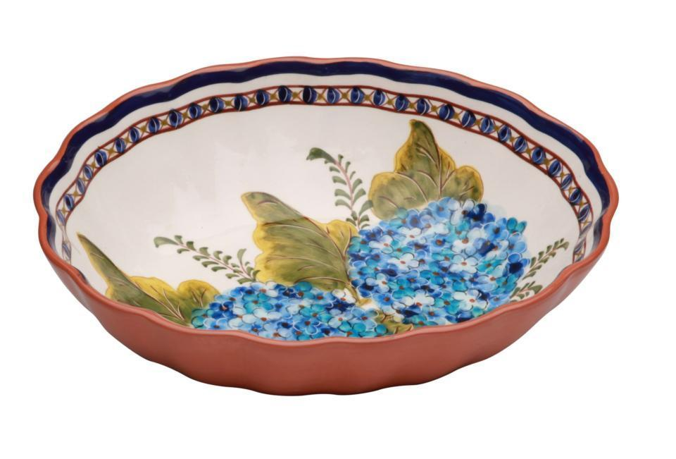 Casafina Oval Scalloped Hydrangea Bowl