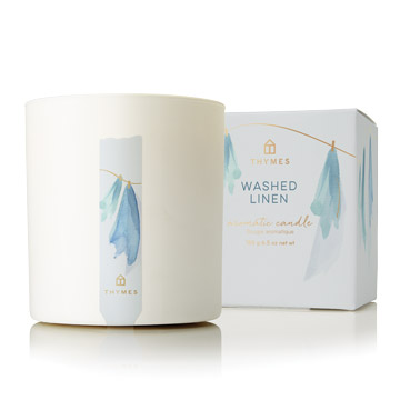 Thymes Washed Linen Poured Candle