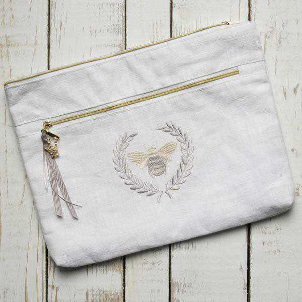 Crown Linen Essential Bumble Bee Cosmetic Bag