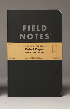Field Notes Large Pitch Black Note Book