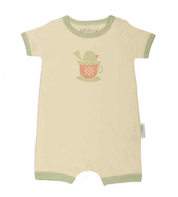 Bebenca Organics Tea Party Shorts Romper