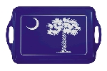 Blue South Carolina Palmetto Melamine Serving Tray