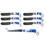 Portmeirion Blue Italian cheese Knife and 6 Spreaders