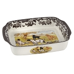Spode Woodland Handled Lasagne Baker with Dogs
