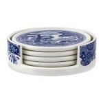 Portmeirion Blue Italian 4 Piece Ceramic Coaster Set