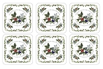 Holly & The Ivy Coasters Set of 6 - Pimpernel