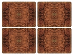Walnut Burlap Placemats Set of 4