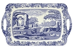 Blue Italian Large Melamine Handled Tray - Spode