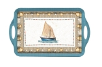Coastal Breeze Large Handled Tray - Pimpernel