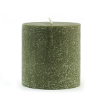 Root Candle - 3x3 Timberline Pillar Dark Olive