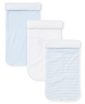 Kissy Kissy Set of 3 Burp Cloths - Blue