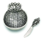 Pineapple Dip Dish with Spreader