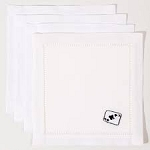 Set of 4 Cards Cocktail Napkins