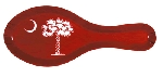 South Carolina Palmetto Tree spoon Rest Garnet