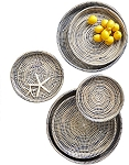 Nested Woven Trays, Set of 6
