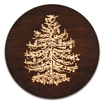 Vintage Wooden Christmas Tree Trivet