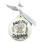 First Christmas Baby Elephant Ornament - Glory Haus