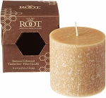 Root Candle - 3x3 Timberline Pillar Beeswax