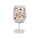 Vietri Carnevale Wine Glass