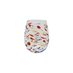 Vietri Carnevale Stemless Wine Glass
