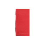 Vietri Cotone Linens Red Napkins with Double Stitching - Set of 4