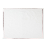 Cotone Linens Ivory Placemats with Red Stitching - Set of 4
