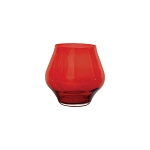 Vietri Contess Red Stemless Wine Glass