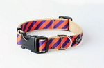 Paw Paws: Collegiate Clemson 05 Dog Collar - Tiger Rep Stripe (extra small)