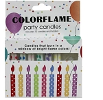 Color Flame Birthday Cake Candles - 12 Pack